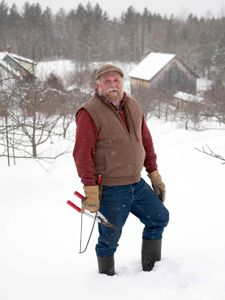 Michael Phillips is ready to prune his apple trees. Photo by Ian Aldrich